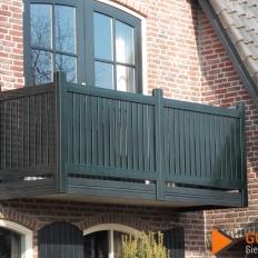 Balkonhekwerk model houtlook